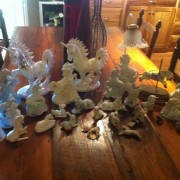 They do exist. My 25 year old ceramic unicorn collection